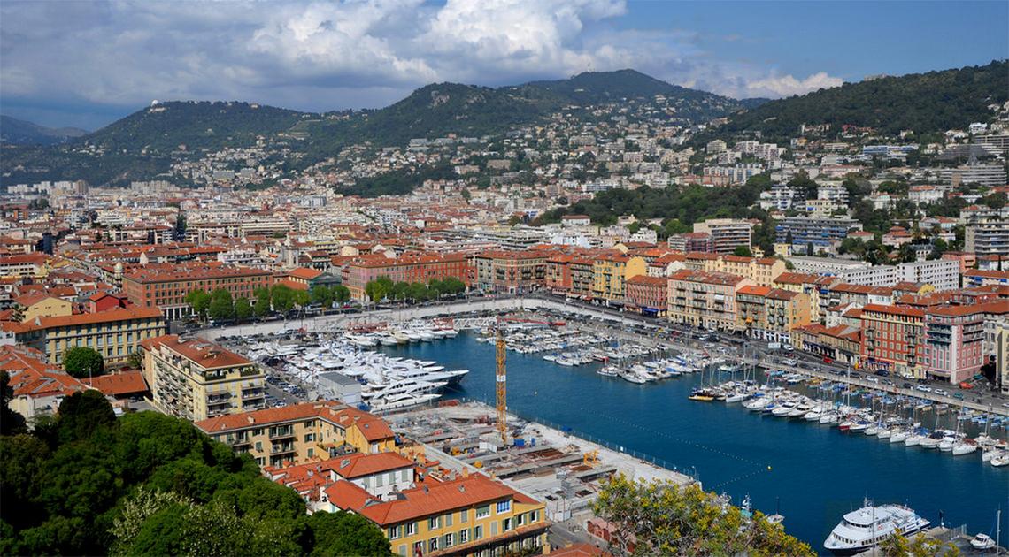 De-haven-van-Nice-in-Frankrijk