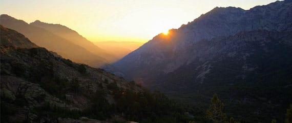 GR20-op-Corsica-met-zon