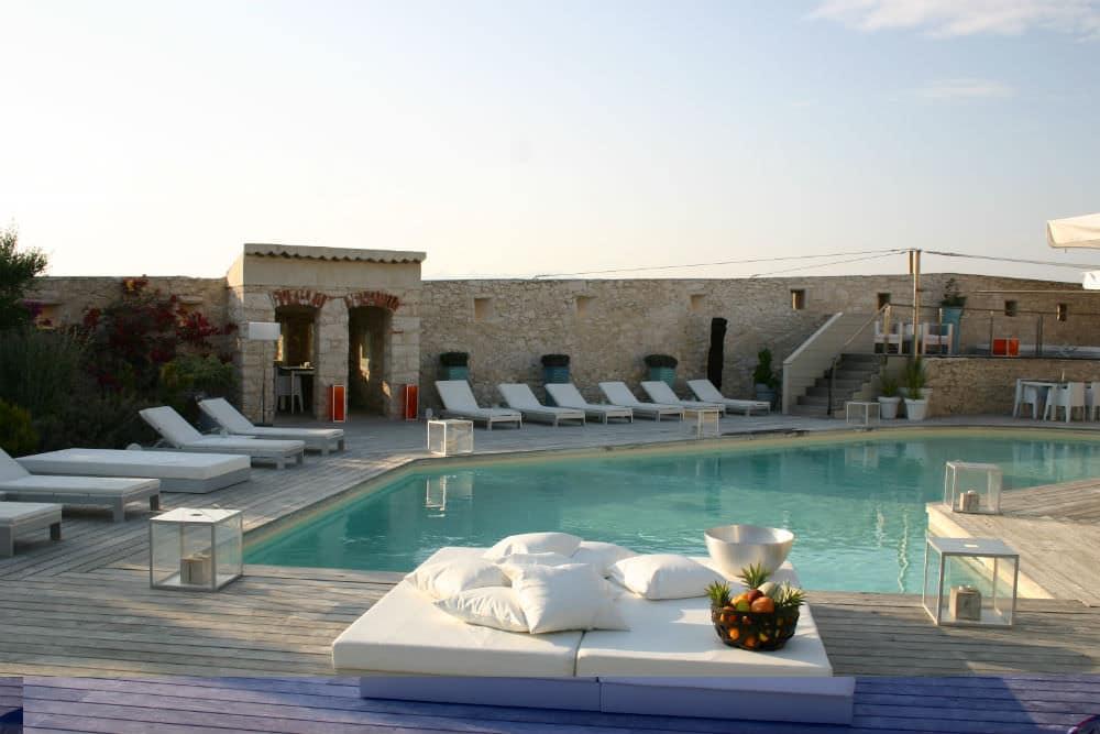 Hotel Genovese Bonifacio zwembad