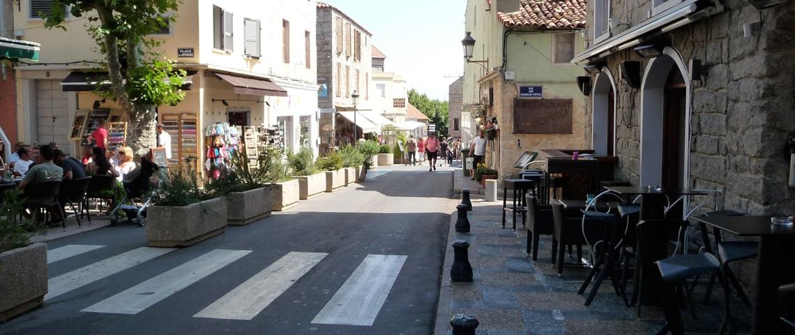 Porto-Vecchio-winkelstraat