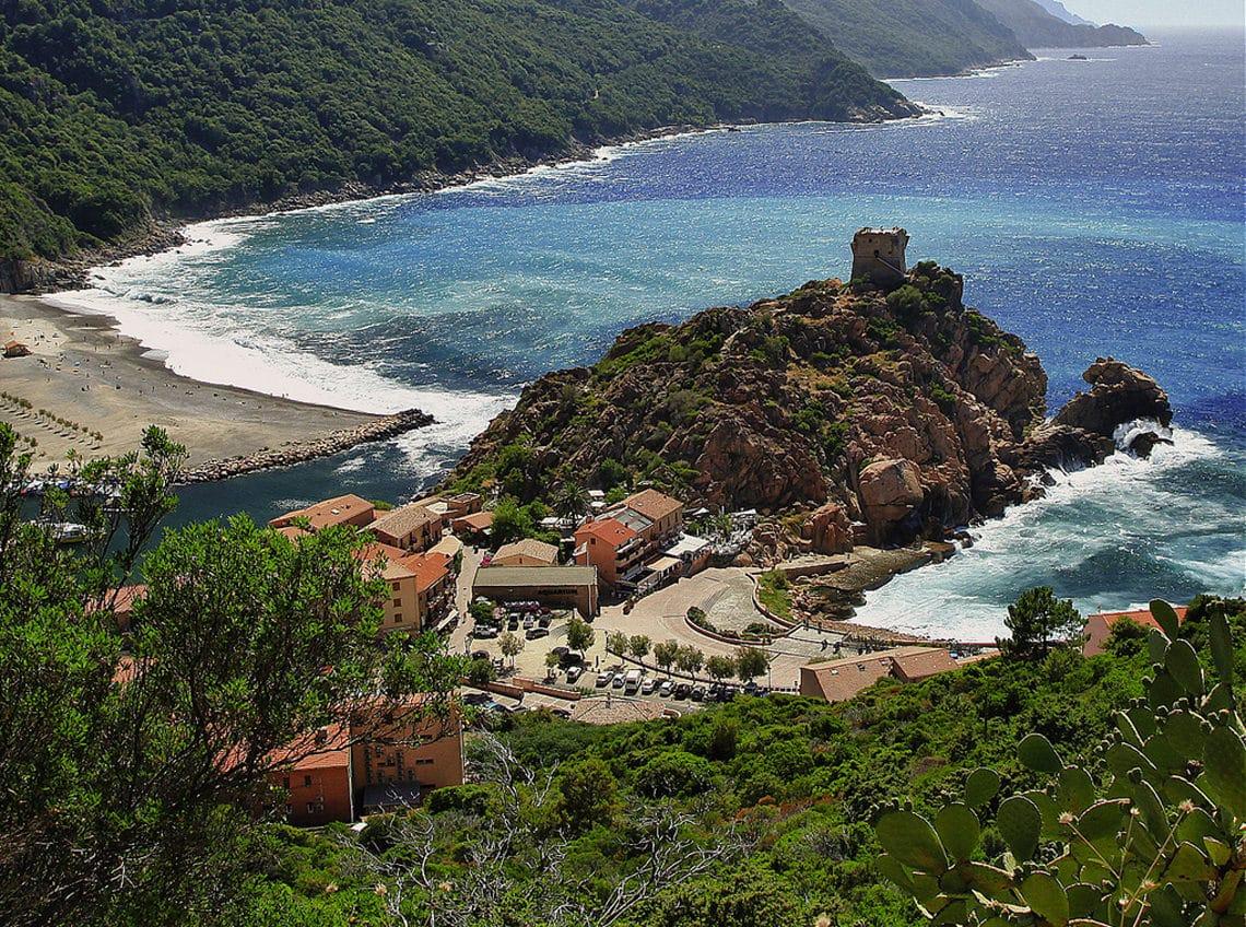 Strand-bij-Porto-Corsica