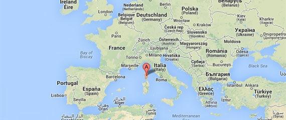 waar ligt corsica
