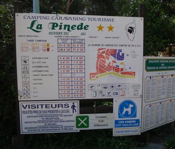 Camping-La-Pinede-Corsica-informatiebord