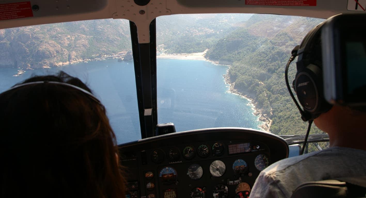 rondvlucht over de baai van Porto
