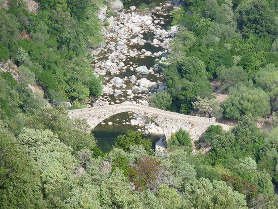 Foret-d-Aitone-Corsica-brug-met-rivier-Aitone