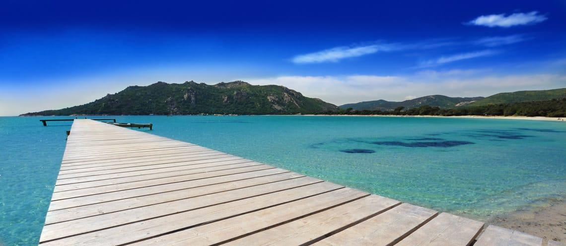 Strand-op-Corsica-weer-in-augustus