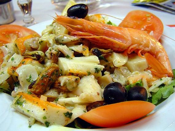 Zeevruchten-garnalen-vis